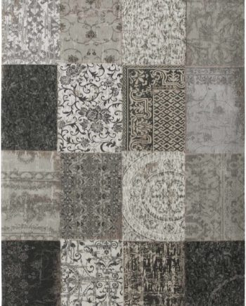 tapijt Louis De Poortere CA 8101 Vintage Black White
