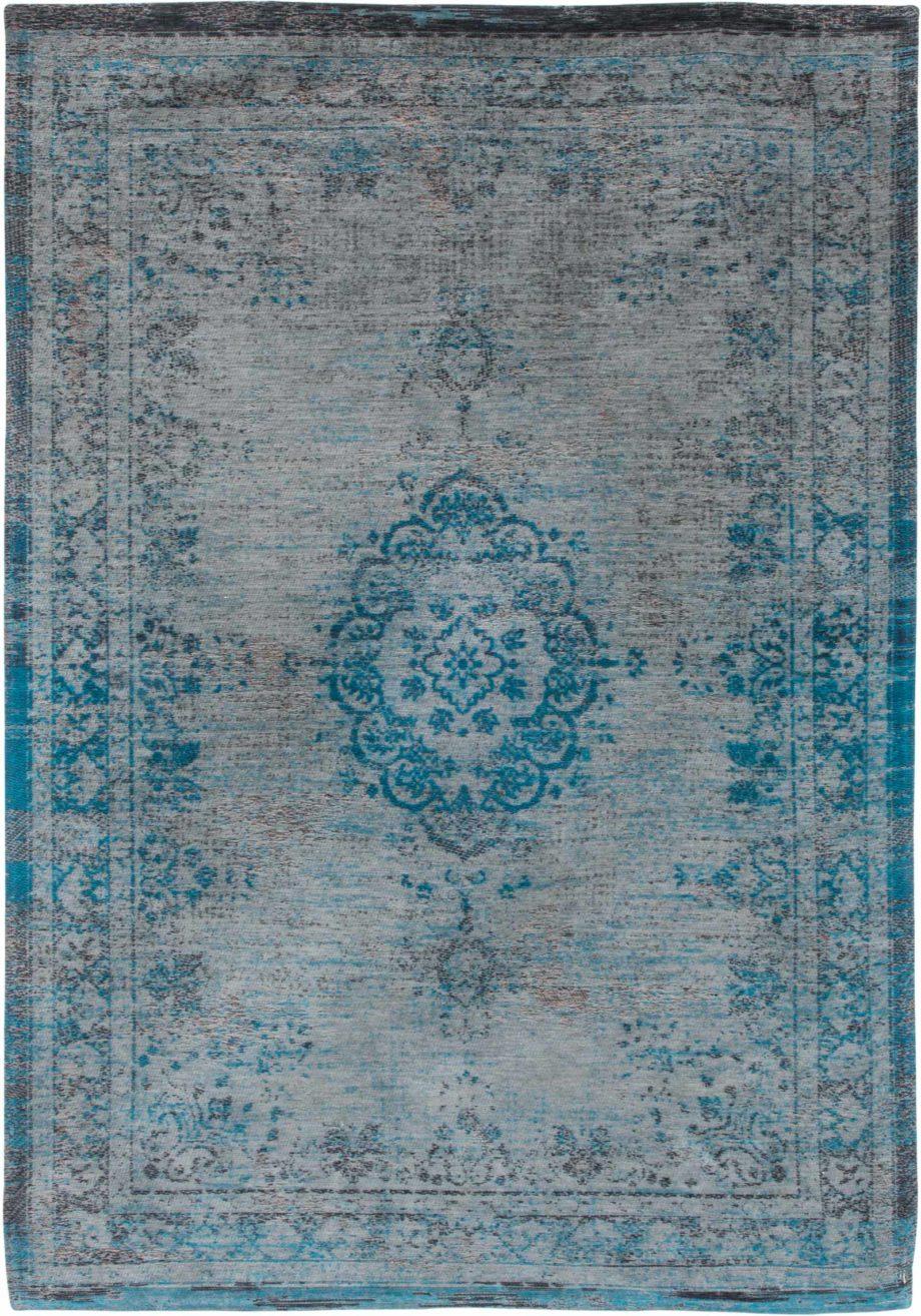 tapijt Louis De Poortere CA 8255 Fading World Medaillon Grey Turquoise