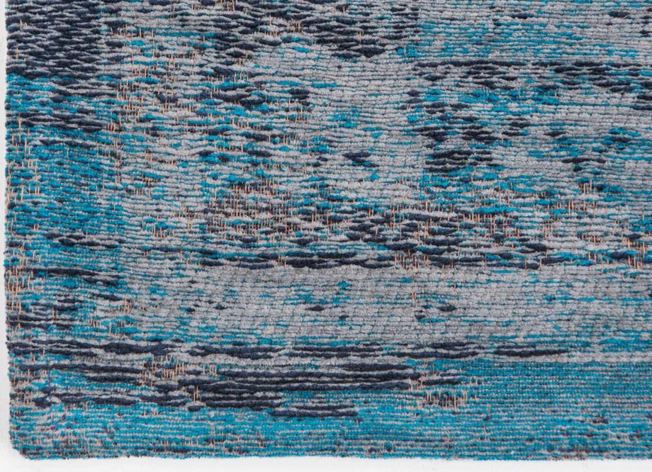 tapijt Louis De Poortere CA 8255 Fading World Medaillon Grey Turquoise corner