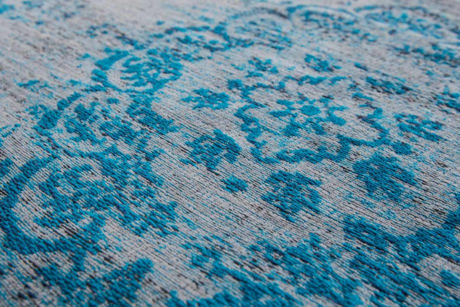 tapijt Louis De Poortere CA 8255 Fading World Medaillon Grey Turquoise zoom