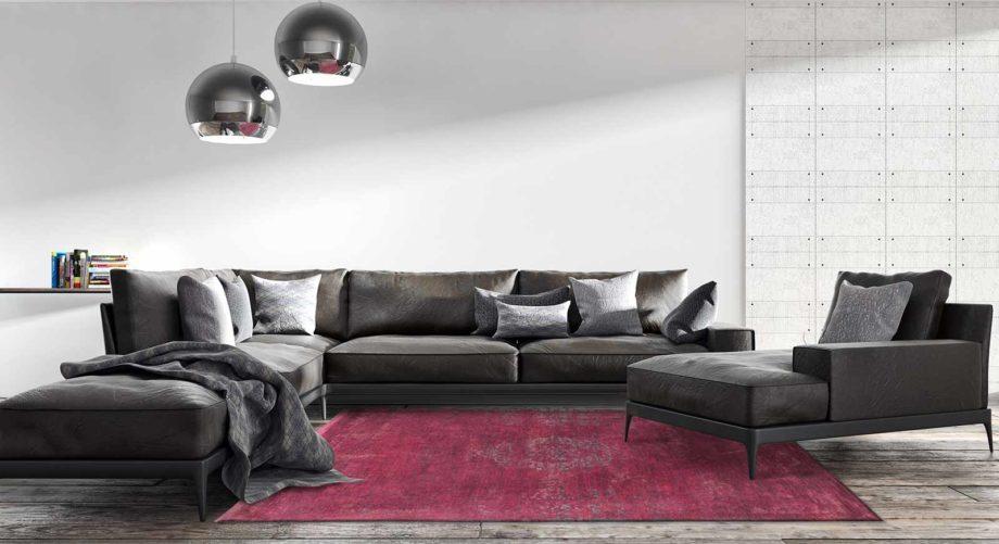 tapijt Louis De Poortere CA 8260 Fading World Medaillon Scarlet interior