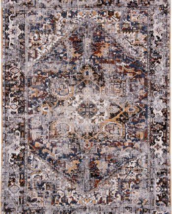tapijt Louis De Poortere CA 8707 Antiquarian Antique Heriz Divan Blue